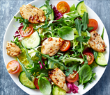 Spicy Chicken Salad with Avocado Cilantro Dressing