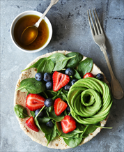 Spinach, Berry and Avocado Salad with Chicken and Balsamic Vinaigrette