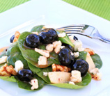 Spinach Salad with Blueberries, Almonds & Feta Cheese