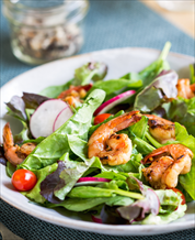 Spinach Salad with Ginger Shrimp