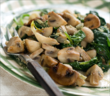 Spinach & Crimini Mushrooms with Truffle Oil