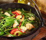 Spinach and Mushroom Skillet with Shrimp