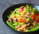 Steak Fried Cauliflower Rice