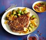 Steak and Green Vegetable Skillet