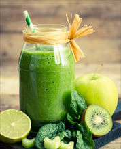 Super Green Kiwi-Ginger Juice