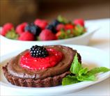 Keto Superfood Berry Chocolate Tarts