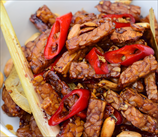 Tempeh with Spicy Coconut Sauce