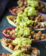 Tex-Mex Turkey Boats with Guacamole