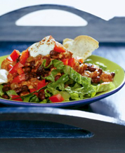 Tex Mex Chicken Salad & Kiwi-Strawberry Cup