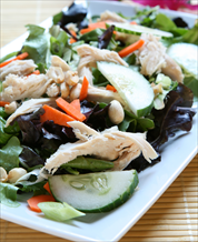Thai Chicken Salad with Coconut-Lime Dressing and Cashews