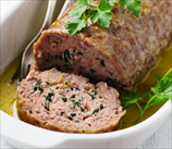 Turkey Meatloaf with Crimini Mushrooms & Herbs (Gluten Free)