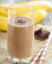 Vegan Chocolate Peanut Butter and Banana Smoothie