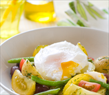 Vegetable Bowl with Fried Eggs