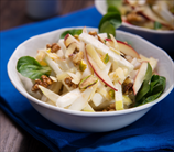Waldorf Chicken Salad over Baby Spinach