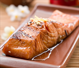 Wild Salmon with Asian Barbeque Sauce