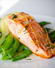 Wild Salmon with Fennel and Broccoli Raab