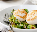 Wild Scallops and Brussels Sprouts
