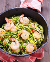 Wild Shrimp Scampi with Zoodles