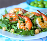 Wild Shrimp and Arugula Salad