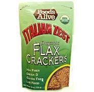 Foods Alive Italian Zest Golden Flax Gluten-Free Crackers