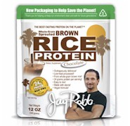 Jay Robb's Chocolate Sprouted Brown Rice Protein Powder