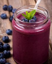 Vegan Blueberry Hemp Smoothie