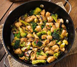 Asian Chicken Broccoli + Mushroom Stir Fry